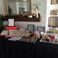 I participated in a holiday boutique - I set up my display in our house the night before for practice!