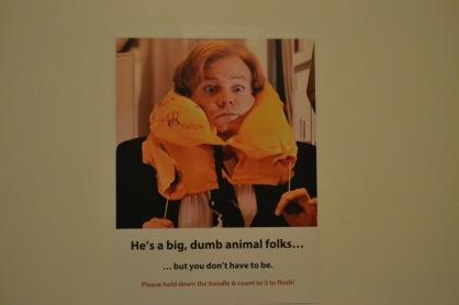 He's a big, dumb animal folks.